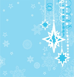 Christmas background with decorations vector