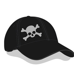 Black baseball cap vector