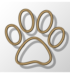 Paw print-rope vector