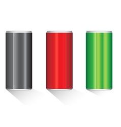 Create aluminium cans vector