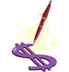 Pen-write-money vector