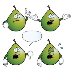 Crying pear set vector