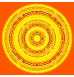 Knit sun vector