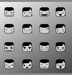 Simple emotion face symbols vector