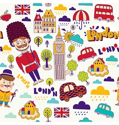 London travel elements vector