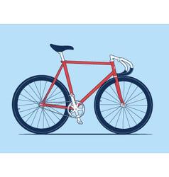 Track bike vector