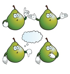 Thinking pear set vector