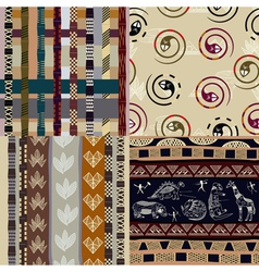 Set of african tribal patterns vector