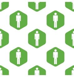 Man pattern vector