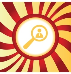 User details abstract icon vector