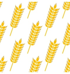 Ripe golden wheat in a seamless pattern vector