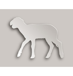 Lamb paper style vector