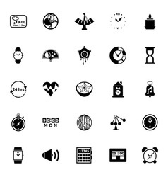 Design time icons on white background vector