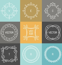 Set of trendy logo design elements vector