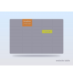Website table vector