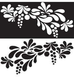Set of white and black silhouettes arc drop design vector
