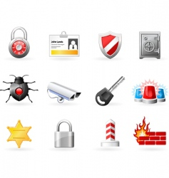 Security and safety icons vector