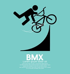 Bmx bicycle sign vector