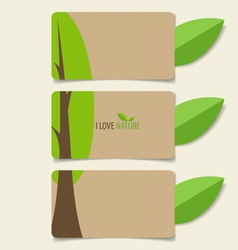 Nature banner eco organic labels and tags vector