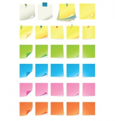 Post it note vector