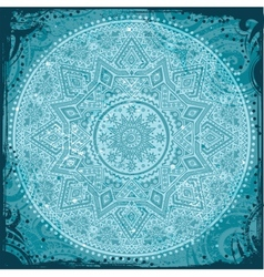 Blue indian ornament vector