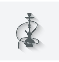 Hookah relaxation icon vector