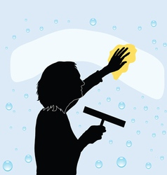 Cleaning windows vector