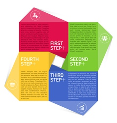Four consecutive steps design template vector