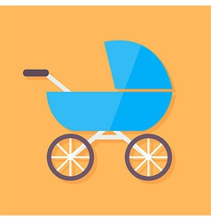Child buggy flat stylized vector