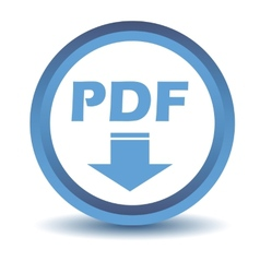 Blue pdf icon vector