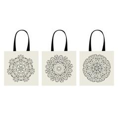 Shopping bag arabesque ornaments vector