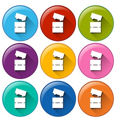Buttons with toy blocks vector