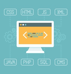Web development concept in flat style vector
