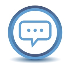 Blue talk icon vector