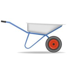 Cartoon wheelbarrow cart for dirt vector