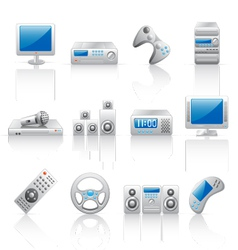 Computer and home appliances vector