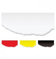 White paper torn edge vector