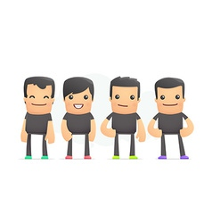 Guys in colored sneakers vector