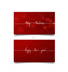 Holiday gift coupons merry christmas and happy new vector