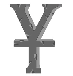 Sign yuan from stone vector