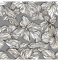 Abstract seamless pattern with decorative flowers vector