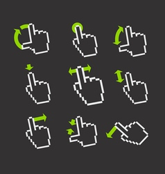 Basic gestures to work with modern gadgets vector