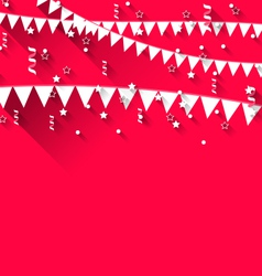 Cute background with hanging pennants for carnival vector