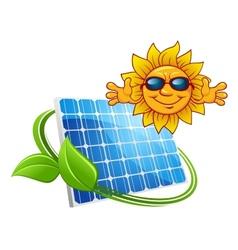 Solar energy concept vector