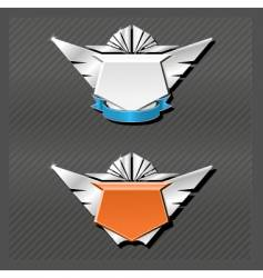 Emblems series wings vector