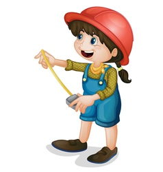 Construction girl vector