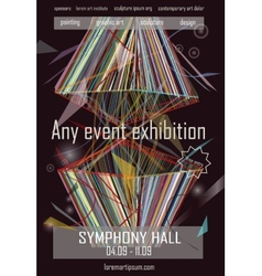Any event exhibition poster template design vector