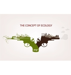 Conceptual of pollution vector