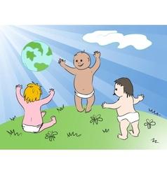 Kids worldwide vector
