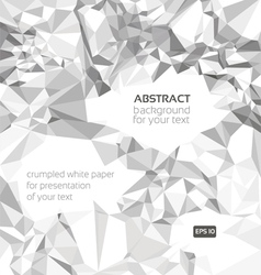 Crumpled paper banner for your presentation vector